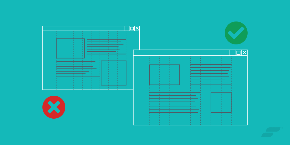 Bad versus Good Grid Design - Website Layout